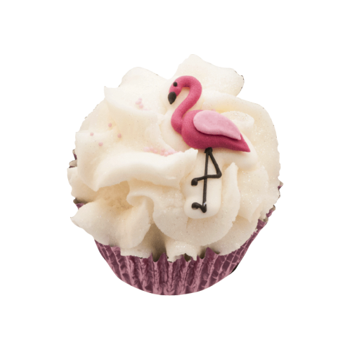 cupcake flamingo triple